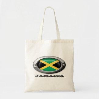 Bandera de Jamaica en el marco de acero Bolsa Tela Barata
