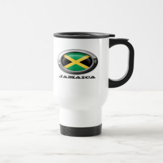 Bandera de Jamaica en el marco de acero Tazas De Café