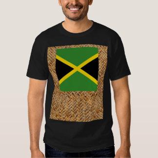 Bandera de Jamaica en la materia textil temática Remera