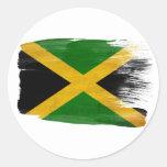 Bandera de Jamaica Etiqueta Redonda