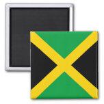 Bandera de Jamaica Imán Cuadrado