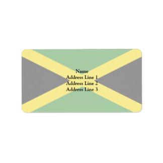 Bandera de Jamaica Jamaica Etiquetas De Dirección