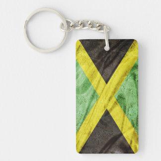 Bandera de Jamaica Llavero Rectangular Acrílico A Doble Cara