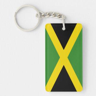 Bandera de Jamaica Llavero Rectangular Acrílico A Una Cara