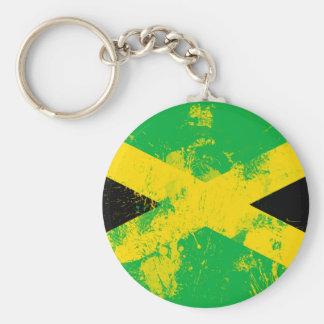 Bandera de Jamaica Llavero Redondo Tipo Pin