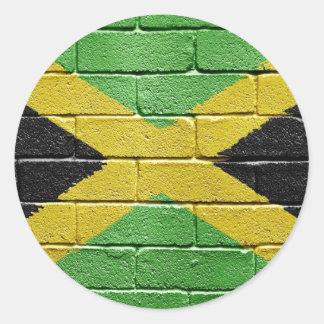 Bandera de Jamaica Pegatinas Redondas