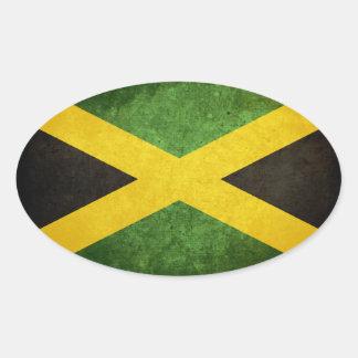 Bandera de Jamaica Pegatina Ovalada