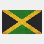 Bandera de Jamaica Pegatina Rectangular