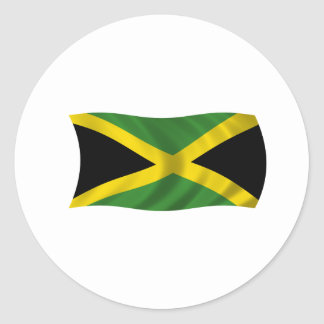 Bandera de Jamaica Pegatina Redonda