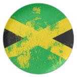 Bandera de Jamaica Plato