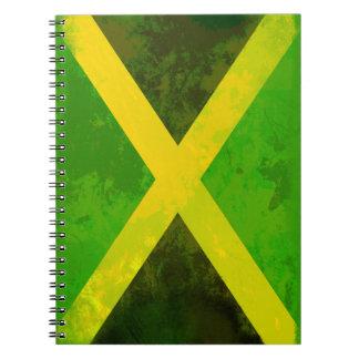 bandera de Jamaica - raíces del reggae Libros De Apuntes Con Espiral