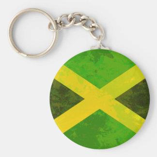 bandera de Jamaica - raíces del reggae Llavero Redondo Tipo Pin