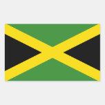 Bandera de Jamaica Rectangular Pegatina
