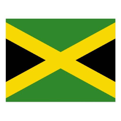 Bandera de Jamaica Tarjeta Postal