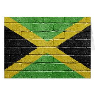 Bandera de Jamaica Tarjetón