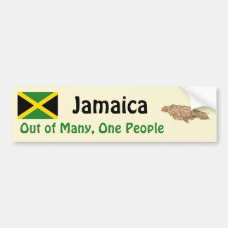 Bandera de Jamaica y pegatina para el parachoques  Pegatina Para Auto