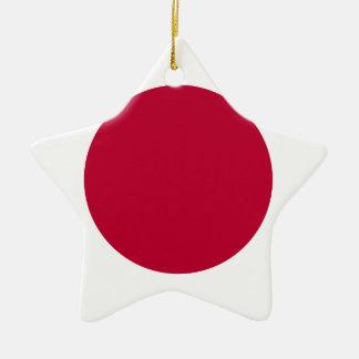 Bandera de Japón - 日章旗 - 日の丸 - 日本の国旗 Adorno Navideño De Cerámica En Forma De Estrella