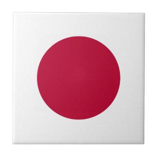 Bandera de Japón - 日章旗 - 日の丸 - 日本の国旗 Azulejo Cuadrado Pequeño