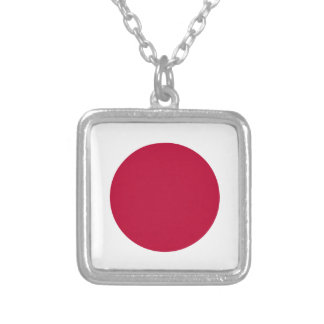 Bandera de Japón - 日章旗 - 日の丸 - 日本の国旗 Collar Plateado