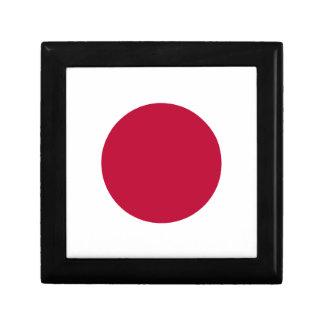 Bandera de Japón - 日章旗 - 日の丸 - 日本の国旗 Joyero Cuadrado Pequeño