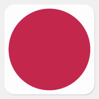 Bandera de Japón - 日章旗 - 日の丸 - 日本の国旗 Pegatina Cuadrada
