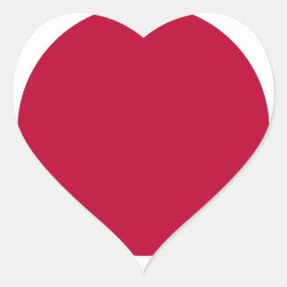 Bandera de Japón - 日章旗 - 日の丸 - 日本の国旗 Pegatina En Forma De Corazón