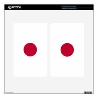 Bandera de Japón - 日章旗 - 日の丸 - 日本の国旗 Pegatina Skin Para Kindle Fire
