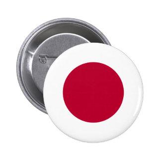 Bandera de Japón - 日章旗 - 日の丸 - 日本の国旗 Pin Redondo De 2 Pulgadas