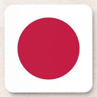 Bandera de Japón - 日章旗 - 日の丸 - 日本の国旗 Posavasos De Bebida