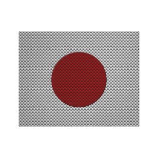 Bandera de Japón con efecto de la fibra de carbono Lienzo Envuelto Para Galerías
