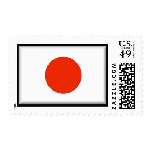 Bandera de Japón Estampillas
