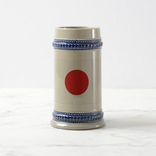 Bandera de Japón Jarra De Cerveza