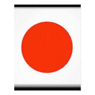 Bandera de Japón Membrete A Diseño