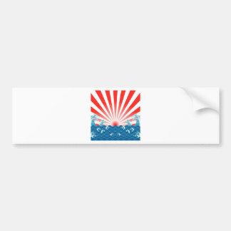 Bandera de Japón - MUESTRA de NIPÓN Etiqueta De Parachoque