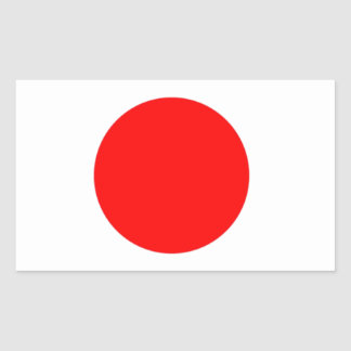Bandera de Japón Pegatina Rectangular