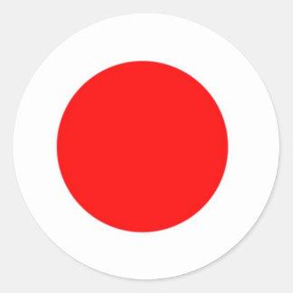 Bandera de Japón Pegatina Redonda