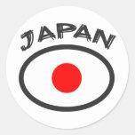 ¡Bandera de Japón - refresque el diseño! Pegatina Redonda