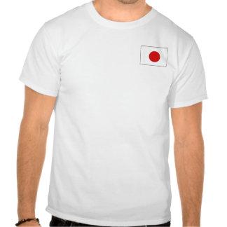 Bandera de Japón y camiseta del mapa