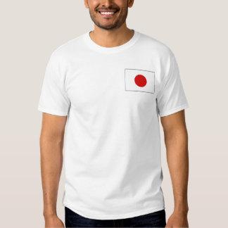 Bandera de Japón y camiseta del mapa Polera