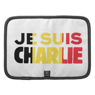 Bandera de Je Suis Charlie-Yo Charlie-Bélgica en Planificadores