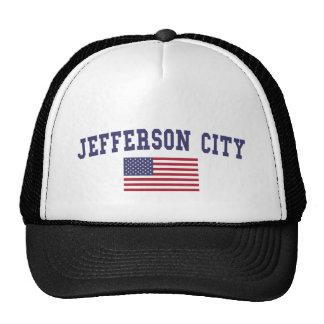 Bandera de jefferson city los E.E.U.U. Gorras