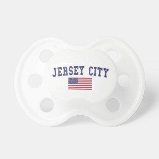 Bandera de Jersey City los E.E.U.U. Chupete