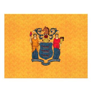 Bandera de Jerseyan del modelo del vintage nueva Tarjetón