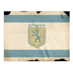 Bandera de Jerusalén, Israel Postales