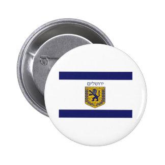 Bandera de Jerusalén Pin Redondo De 2 Pulgadas