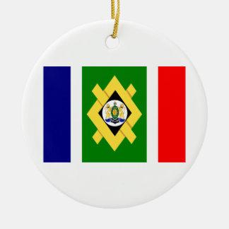 Bandera de Johannesburg Adorno Navideño Redondo De Cerámica