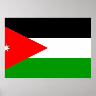 Bandera de Jordania Póster