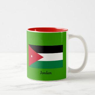 Bandera de Jordania Taza Dos Tonos