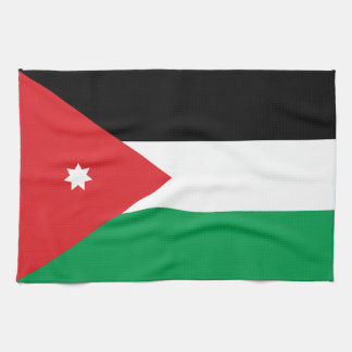 Bandera de Jordania Toalla De Mano