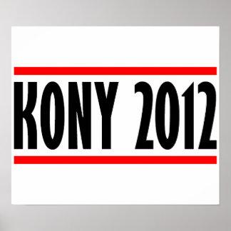 Bandera de José Kony de la parada de Kony 2012 Poster